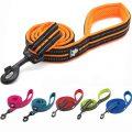 Dog Leash Reflective Soft Nylon in Harness and Collar Walking Training 200cm