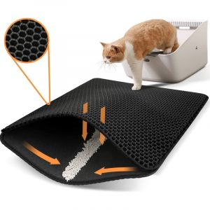 Medium Cat Litter Mat Double Layer Non-slip Design Urine and Water Proof