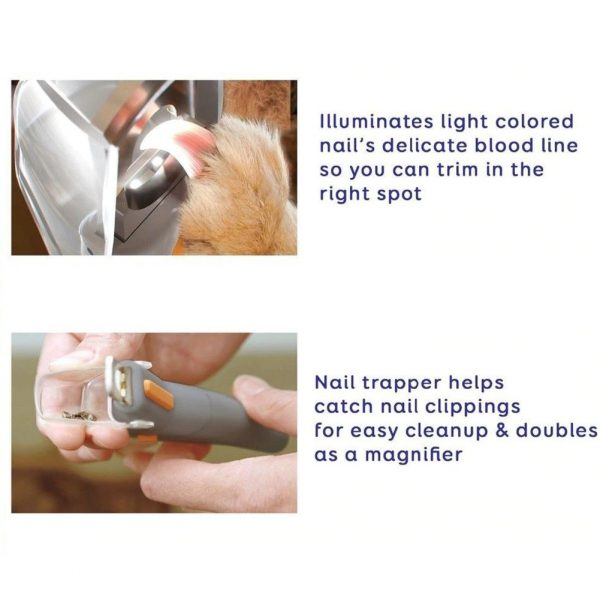 Professional Pet Nail Clipper LED Light Cutting Machine