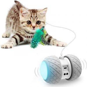 Cat 360 Degree Self Rotating Ball USB Charging Interactive Toy