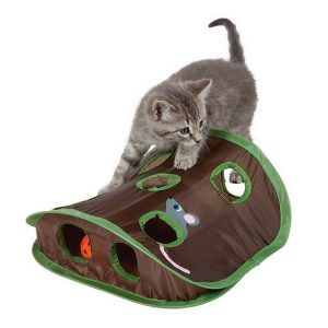 Cat Mice Game Intelligence Toy Bell Tent with 9 Hole