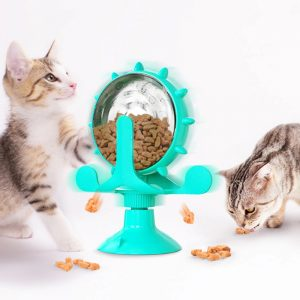 Cat Leaking Interactive Rotatable Wheel Toy