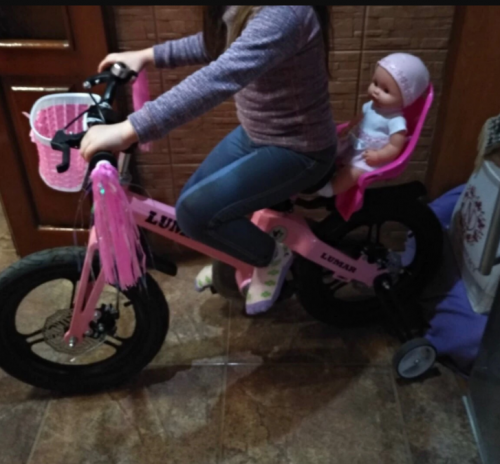 Kids Bike Seat Post Doll Bicycle Accessory Set photo review