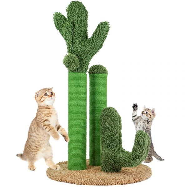 Cat Cute Cactus Tree with Ball Scratcher Posts Toy