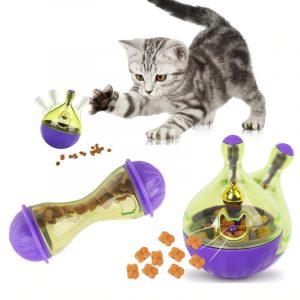 Cat Feeding Dispenser Ball Interactive Slow Feeder Leakage Toy
