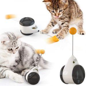 Cat Chasing Toy Interactive Balance 360° Self Rotating Ball Car