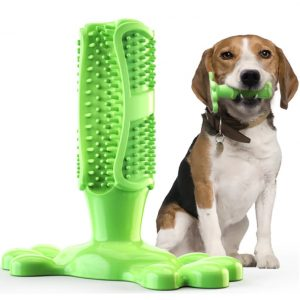 Rubber Dog Chew Toy Dental Care Brushing Stick Teeth Cleaning