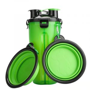 Pet 2 in 1 Food Water Container Collapsible Folding Bowl