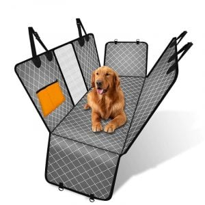 Dog Hammock Car Seat Protector Mat with Zipper and Pocket