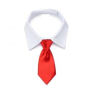 Pet Dog & Cat Necktie Bow Tie Black Red Collar