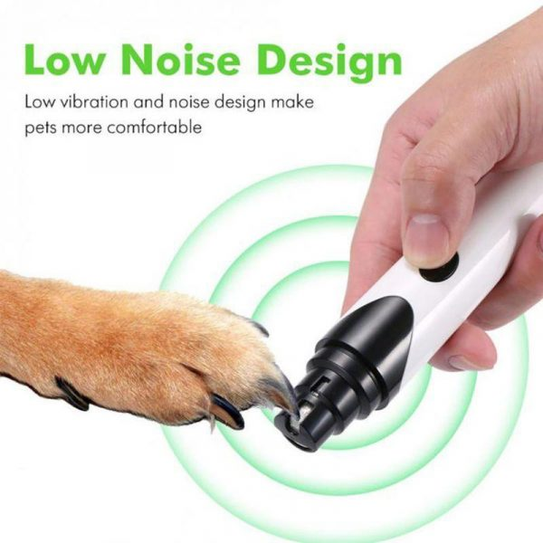 Pet Nail Grinder Rechargeable Painless USB Electric Trimmer