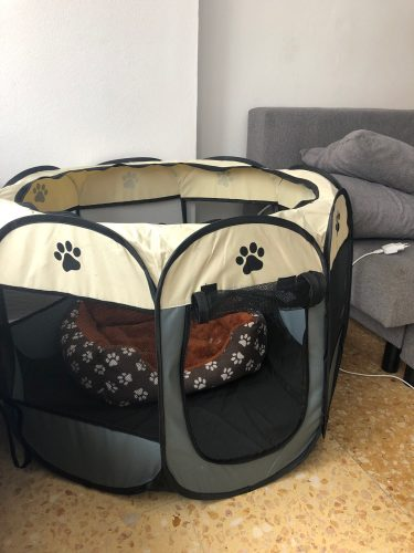 Dog Playpen Octagon Tent Portable Folding Breathable Fence photo review