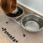 Pet Personalized Pad Feeder Waterproof Mat photo review