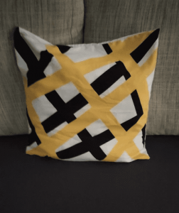 Pillow Case Cushion Cover Yellow Striped Geometric Throw Printing Cushion Pillow Case photo review