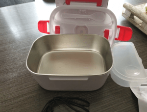 Lunch Box Portable Electric Heating Stainless Steel  Home Car Truck Rice Box Food Warmer Dinnerware photo review