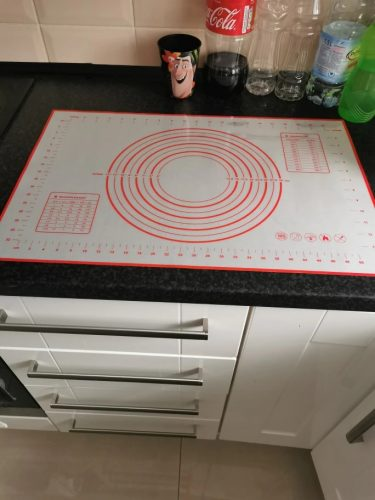 Pizza Kneading Dough Mat Silicone Baking Mat photo review