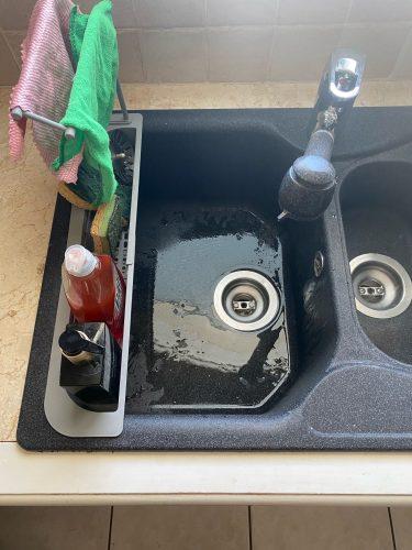 Sponge Soap Sink Holder Adjustable Drainer Sink Tray photo review