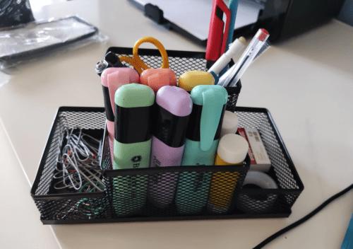 Metal Mesh Home Office Pen Pencils Holder Desk Stationery Storage Organizer Box photo review