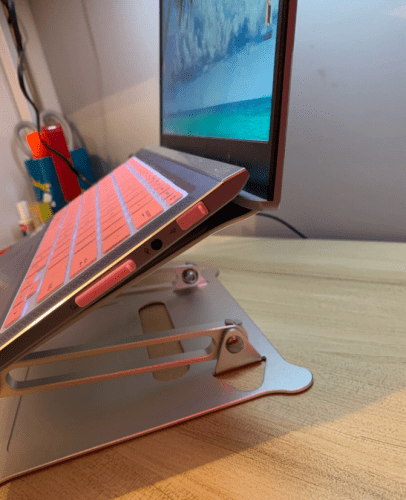 Aluminum Alloy Adjustable Laptop Stand Folding Portable for Notebook photo review