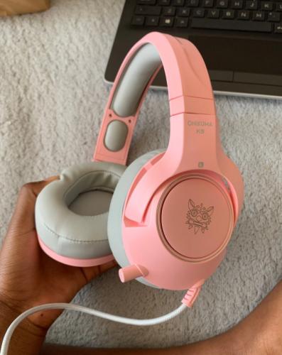 Pink Cat Headphones Gaming Headset photo review