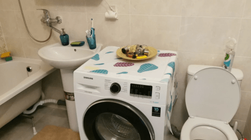 Fridge Dust Cover Multi-Purpose Washing Machine Cotton Linen Top Cover with Side Storage photo review