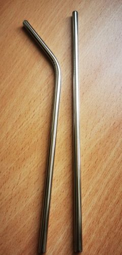 Straws Reusable Stainless Steel Set with Cleaner Brush photo review