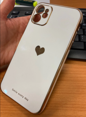 iPhone Case Electroplating Love Heart Shockproof Protective Back Cover photo review