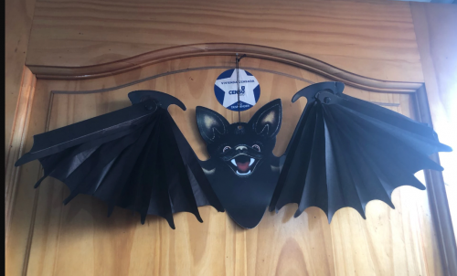 Paper Bat Hanging Props for Halloween Decoration photo review